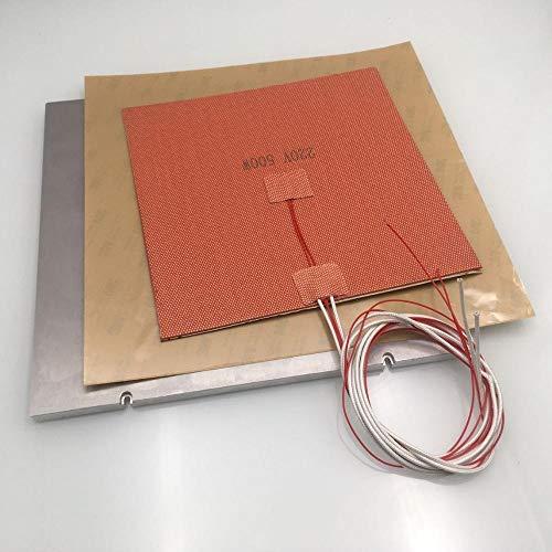 L-Yune,bolt 1pc MIC-6 Aluminum Z Build Plate Kit 110/220V Silicone AC Heater Pad PEI 3M Sheet Kit For VORON 2.4 3d Printer DIY Parts (Color : 110V, Size : 350mm build)