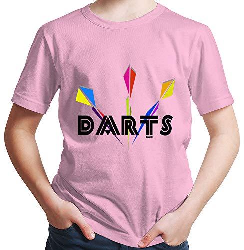 HARIZ Jungen T-Shirt Darts Dartpfeile Dart Sprüche Dartpfeile WM Plus Geschenkkarte Rosa 92/1-2 Jahre