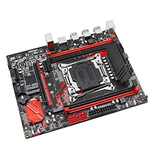 Newwiee Juego de Placa Base X99 Fit for LGA 2011-3 con procesador Intel Xeon E5 4620 V3 DDR4 16GB (2 * 8GB) 2666Mhz Memoria RAM M-ATX X99-RS9