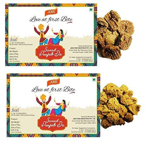 JAGS Amritsari Handmade Urad Dal Medium Spicy Masala and Moong Dal Masala Wadi Combo (200 g Each) pack 2