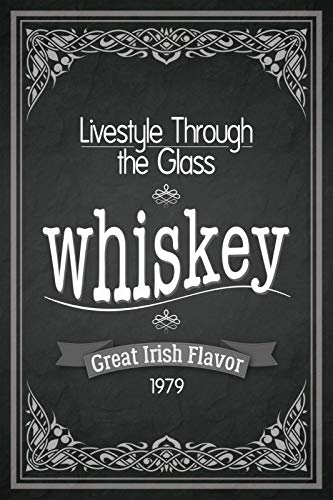 FS Lifestyle Through The Glass Whisky Whiskey 1979 metalen bord gebogen plaat 20 x 30 cm