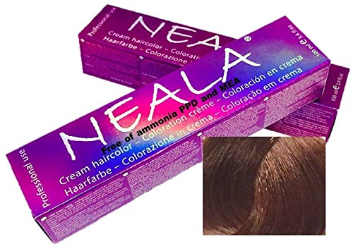 Professionele kleuring haarkleur zonder ammoniak en vrij van PPD en MEA - 6.44 - DONKER BLOND INTENS KOPER - NEALA 100 ml.