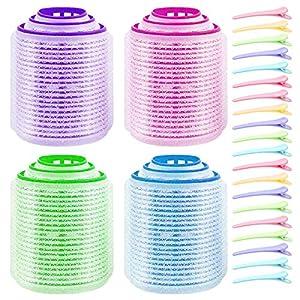 Zuzer Rulo de Pelo,48PCS Rulos Rizar Pelo Hair Curlers Rollers y 20PCS Pinza de Pelo para Niñas Mujeres(Pequeño Mediano Grande)