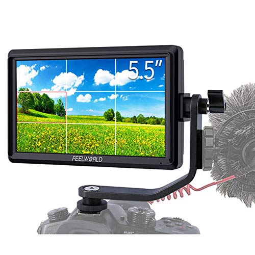 Feelworld FW568 5.5 inch 4K HDMI DSLR Camera Field Monitor Small Full HD 1920x1080 LCD IPS Video Support attendance for DSLR Camera