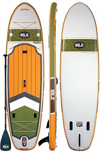"ISLE 11'6' Sportsman | Inflatable Fishing Stand Up Paddle Board | 6"" Thick iSUP and Bundle Accessory Pack 