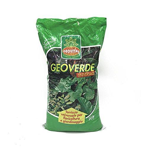 Terriccio Universale  Geoverde  Torba (50%), Con Fertilizzanti Per Un Rapido E Vigoroso Sviluppo Floreale E Vegetale.