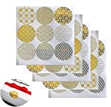 20 Sheets Decorative Gold Circle Envelope Seals StickersGift Boxes Stickers Label Sticke...