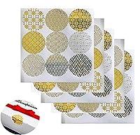 20枚 装飾用ゴールド円形エンベロープシールステッカー ギフトボックスステッカー ラベルステッカー