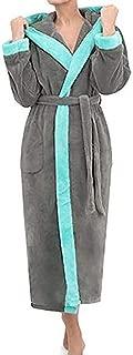 Cappotto da bagno per donna Uomo bambini con collo sciallato cappuccio vestaglia