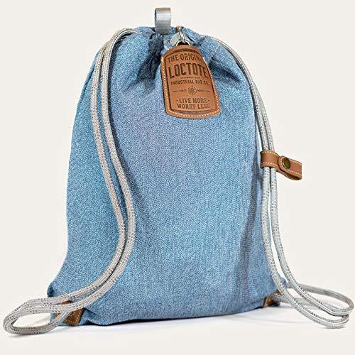 loctote Flak Sack Sport New 2020 - Denim Blue - Diebstahl Schutz Tasche mit Schloss