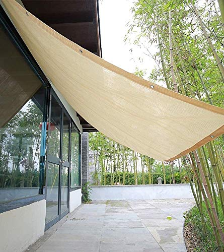 Zeltplanen CJC Startseite Pergola Beschattung Sonnenschutz Terrassendach, Beige Rechteck HDPE Durchlässiges Tuch Mit Tüllen (Color : Beige, Size : 4x6m)