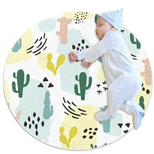 Colorful Cactus Baby Play Mats - Baby Crawling Mats for Boys and Girls - Children's Room Decor for Play Carpet Floor Carpets