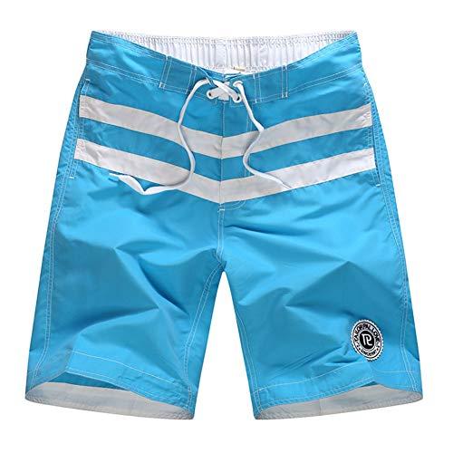LHZMLO Bañador,Hombres Moda Casual Color Colisión Patchwork Playa Surf Pantalones Cortos Sueltos Pantalones Verano Hombres Traje De Baño