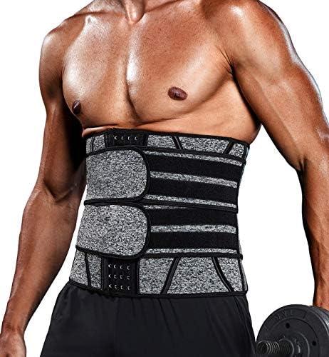 Vaslanda Waist Trainer for Men Sports Girdle Neoprene Sauna Trimmer Belt Abs Toning Workout product image