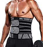Vaslanda Waist Trainer for Men Sports Girdle Neoprene Sauna Trimmer Belt Abs Toning Workout Compression Fitness Shaper Cincher 2XL