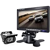 Backup Camera and Car 7 Inch Monitor Screen Waterproof Rear View...