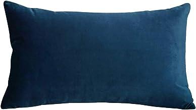 In House 1-Piece Velvet Rectangular Decorative Seat Cushion 30x50cm - Navy Blue