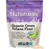 NuNaturals Organic Green Banana Flour Certified Organic, Non-GMO, Vegan, Gluten Free, 22 Servings (1...
