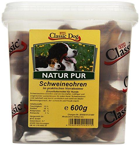 Classic Dog Schweineohren im Eimer, 1er Pack (1 x 600 g)