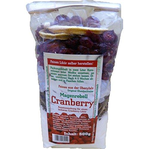Ansatzlikör Ansatzgewürz Magenrebell Cranberry