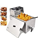 Minocool Commercial Deep Fryer, 8L 110V 1800W Professional-style Deep Fryer with Basket, Lid & Oil...