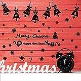 jiuyaomai Frohe Weihnachten Glocken DIY Wandaufkleber Glas Fenster Home Decor Art Decals kreative D...
