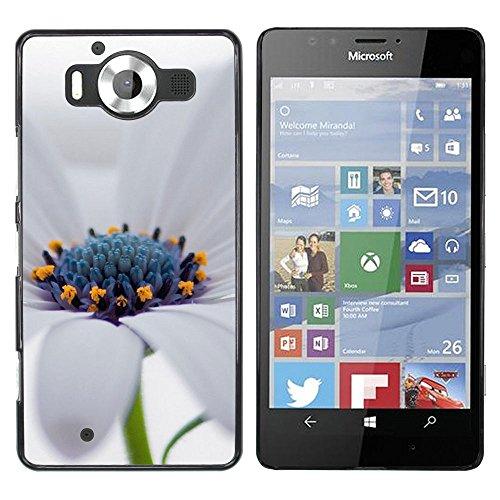 OB-star ( Scarica Bianco Osteospermum Fiore ) NOKIA Lumia 950 Dura Variopinta Stampato Protettiva Copertura Shell Di Caso Della Pelle