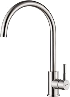 comprar comparacion GRIFEMA Irismart - Grifo de cocina con caño orientable 360 °, mezclador de fregadero Alto, Acero