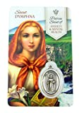 The Healing Saints Silver Toned Saint Dymphna Patron of Anxiety and Mental Health Medal with Holy Card, 1 Inch