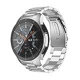 ANBEST Acero Inoxidable Pulsera Compatible con Samsung Gear S3/Galaxy Watch 46mm/Gear S3 Frontier Correa, Plata