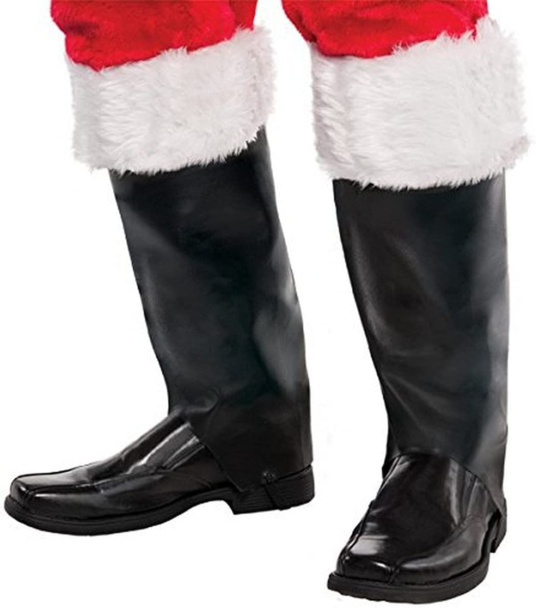 Christmas Selling rankings Santa Boot Covers 1 Costume Rapid rise Party pair