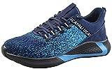 UCAYALI Zapatos de Seguridad con Punta de Acero para Hombre Zapatillas de Trabajo Puntera Reforzada Calzado de Protección Industria Construcción - Cómodos Ligeros y Antideslizantes(Azul, 46)