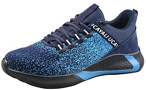 Zapatos de Seguridad con Punta de Acero para Hombre Mujer - Cómodos Ligeros y Transpirables, Talla 39-48