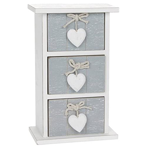 QUALITY PROVENCE GREY SHABBY CHIC 3 DRAWER MINI CHEST HOME DECOR NEW AND BOXED