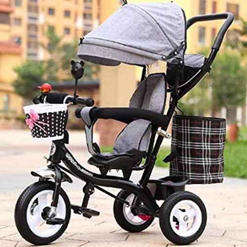 NUBAO Triciclo evolutivo Toral Triciclo Triciclo Triciclo Triciclo Maschio e Femmina Bike Bike Bike Trolley / 1-2-3-6-anno-Bike Baby Trolley Stroller / 3 (Colore : 4)