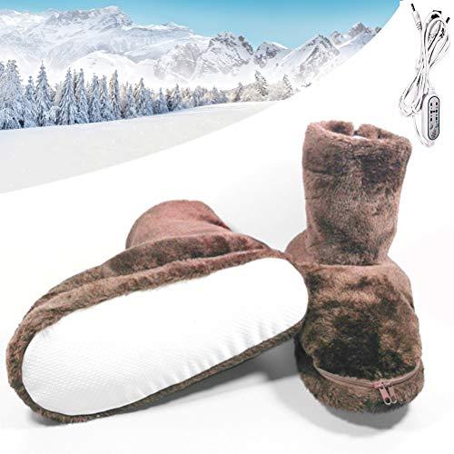 Haplws Wärmehausschuhe, Wärmeschuhe Wärmepantoffeln Winter Electric Heating Shoes USB Plush Warm Shoes