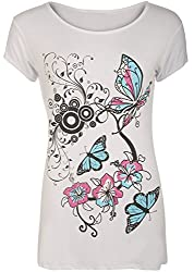 Authentic & Original Only From WearAll Length 74cm Intricate Butterfly Print Casual Relaxed Fit Short Sleeves