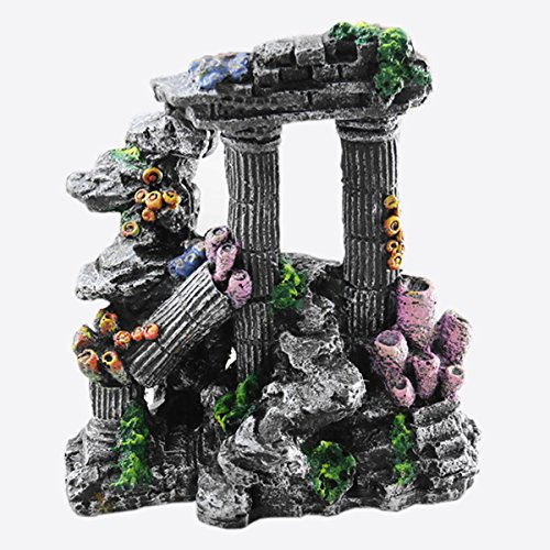 ZooooM 熱帯魚 水槽 置物 装飾 飾り アクアリウム オーナメント 隠れ 家 海底 神殿 金魚 観賞 魚 置くだけ 設置 オブジェ ZM-GYOGYO02