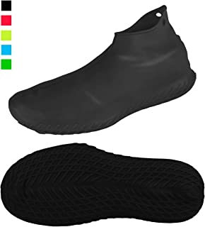 LEGELITE Reusable Silicone Waterproof Shoe Covers, No-Slip Silicone Rubber Shoe Protectors for Kids,Men and Women