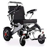 YLKCU Silla de Ruedas, Movilidad eléctrica para Ancianos, discapacitados, batería de Litio, Silla de Ruedas Plegable, portátil y Multifuncional. para minusválidos(No en el avión)