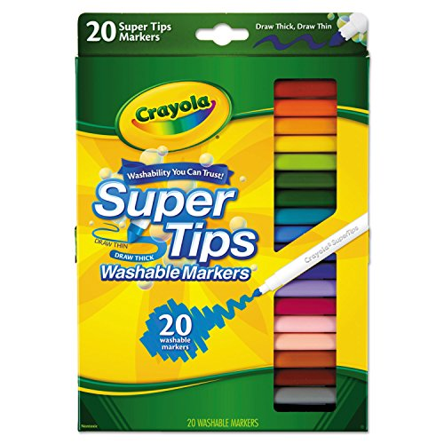 Crayola Super Tip Fine Line Washable Markers 20 Pack 58-8106