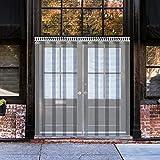 VEVOR Cortina Puerta PVC Transparente Impermeable, 1 x 2 m, Material Impermeable Transparente PVC 6 Tiras Total, Cortina de Puerta PVC Ancho Total 1 m Cortina Puerta PVC Transparente