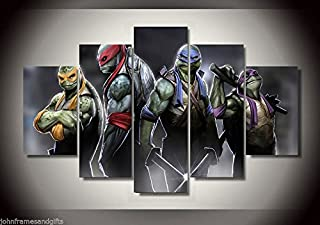 Ninja Turtles Canvas Print decor in 5 pieces