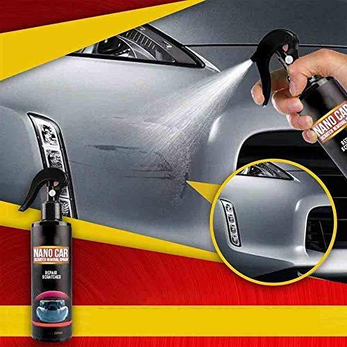 DZANS 2020 Réparation Rapide De Rayures Nano Spray Anti-Rayures De Voiture - 250ml, Spray De Réparation De Voiture Nano avec Tissu Nano Magique pour Voitures