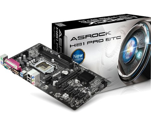 ASRock H81 PRO BTC 1150 Mainboard Sockel LGA (micro-ATX, Intel H81, DDR3 Speicher, 2x SATA, 4x USB 2.0)