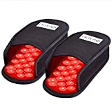 DGXINJUN Red Light Therapy Devices Near Infrared LED Pad 880 NM Foot Pain Relief Slipper for Feet Toes Instep (Two Pads Set)