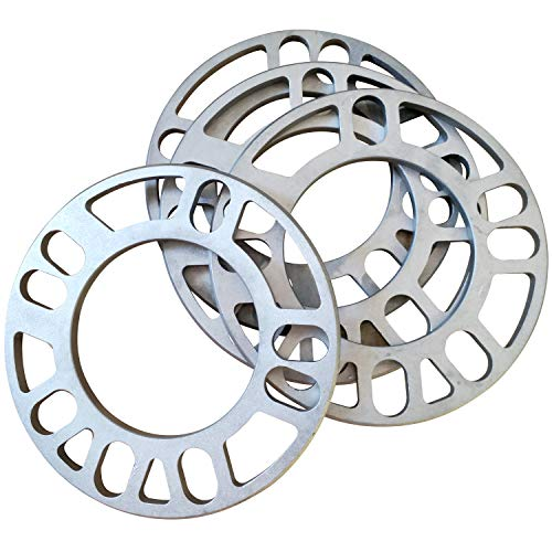 ZHTEAPR 4pc 12mm or 1/2' Universal Wheel Spacers Adapters for Most 4lug 5 Lug Vehicle PCD Bolt Patterns from 108-114.3mm 4x108 4x110 4x112 4x114.3 4x4.5 5x108 5x110 5x112 5x114.3 5x4.5