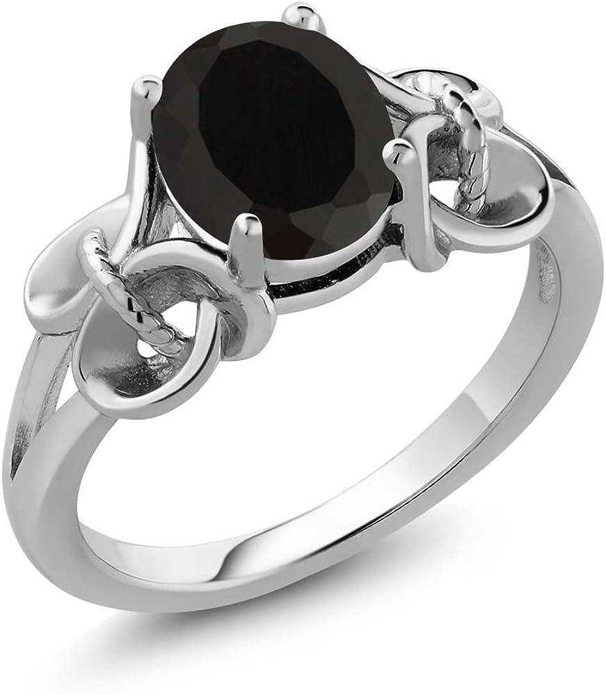 Gem Stone Bargain King 925 Sterling Engagement Onyx Women's Black Silver Under blast sales