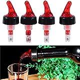 Bec verseur et doseur - Pour mesurer boissons, spiritueux, vins, cocktails - 30ml - Rouge/blanc, Red, free size