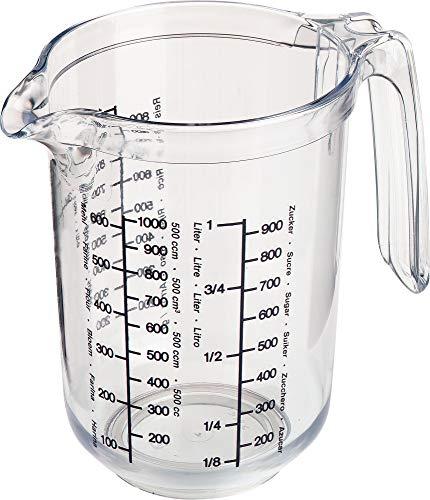 Westmark 30682270 Gerda-Recipiente de Cocina para medir cantidades (1 l), Plastic